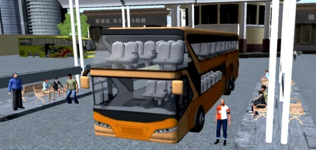 Autista dell'autobus interurbano in 3D